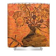 Autumn Flowers Shower Curtain