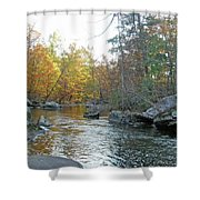 Autumn Flows Toward Winter Shower Curtain