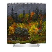 Autumn Foliage Shower Curtain