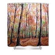 Autumn Forrest Shower Curtain