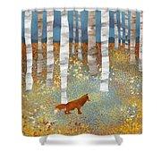 Autumn Fox Shower Curtain