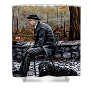 Autumn Friends Shower Curtain