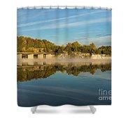 Autumn Glow Lake Springfield Shower Curtain