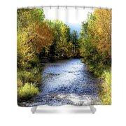 Autumn Harvest Along The River Shower Curtain