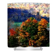 Autumn Hedgerow Shower Curtain