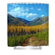 Autumn Hike Shower Curtain