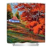 Autumn Hillside Shower Curtain