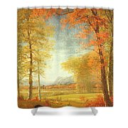 Autumn In America Shower Curtain