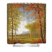 Autumn In America Shower Curtain