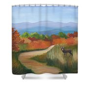 Autumn In Blue Ridge Mountains Virginia Shower Curtain