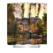 Autumn In Boston Garden Shower Curtain