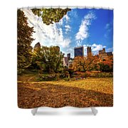 Autumn In Central Park Shower Curtain