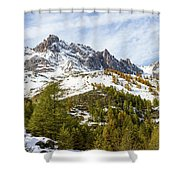 Autumn In French Alps - 18 Shower Curtain