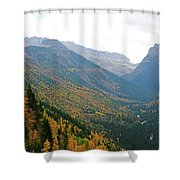 Autumn In Glacier Shower Curtain