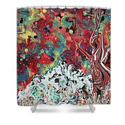 Autumn In Mt. Bascobert National Forest Shower Curtain