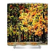 Autumn In Olde Virginia Shower Curtain