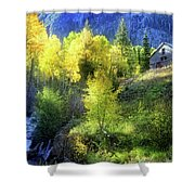 Autumn In Ophir - Colorado - Aspens Shower Curtain
