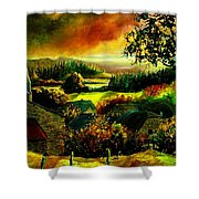 Autumn In Our Village Ardennes Shower Curtain