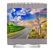 Autumn In Romania Countryside Shower Curtain