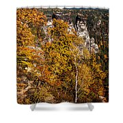 Autumn In Saxon Switzerland Shower Curtain