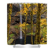 Autumn In Silver Falls Shower Curtain