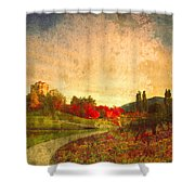 Autumn In The City 2 Shower Curtain