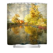 Autumn In The Pond Shower Curtain