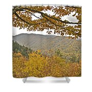 Autumn In The Smokies Shower Curtain by Michael Peychich
