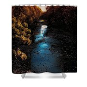 Autumn In The Tributary Shower Curtain