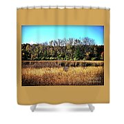 Autumn In The Wetlands Shower Curtain