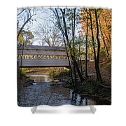 Autumn In Valley Forge - Knox Covered Bridge Shower Curtain