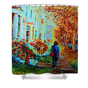Autumn In Westmount Shower Curtain