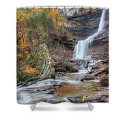 Autumn Kaaterskill Falls Square Shower Curtain