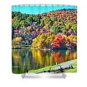 Autumn Lake Shower Curtain