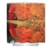 Autumn Lake Scenery Shower Curtain