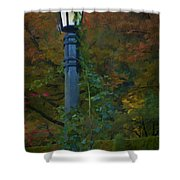 Autumn Lamp Shower Curtain