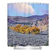Autumn Landscape In Northern Nevada. Shower Curtain