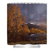 Autumn Landscape Near Telluride Shower Curtain