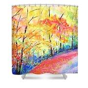 Autumn Lane Iv Shower Curtain