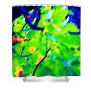 Autumn Leaf Abstract Shower Curtain