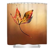 Autumn Leaf Falling By Kaye Menner Shower Curtain