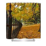 Autumn Leaves At Lafayette Park Shower Curtain