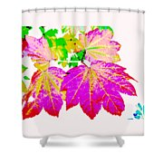 Autumn Leaves Holiday Style Shower Curtain
