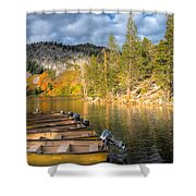 Autumn Light At The Lake Shower Curtain