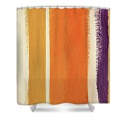 Autumn Lines- Art By Linda Woods Shower Curtain