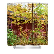 Autumn Michigan Barn  Shower Curtain