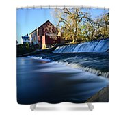 Autumn Mill Portrait Shower Curtain