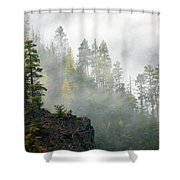 Autumn Mist Shower Curtain by Mike  Dawson
