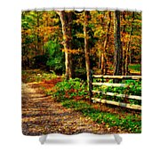 Autumn Moment - Allaire State Park Shower Curtain