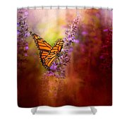 Autumn Monarch Shower Curtain